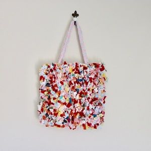 Handmade Rag rug tote bag
